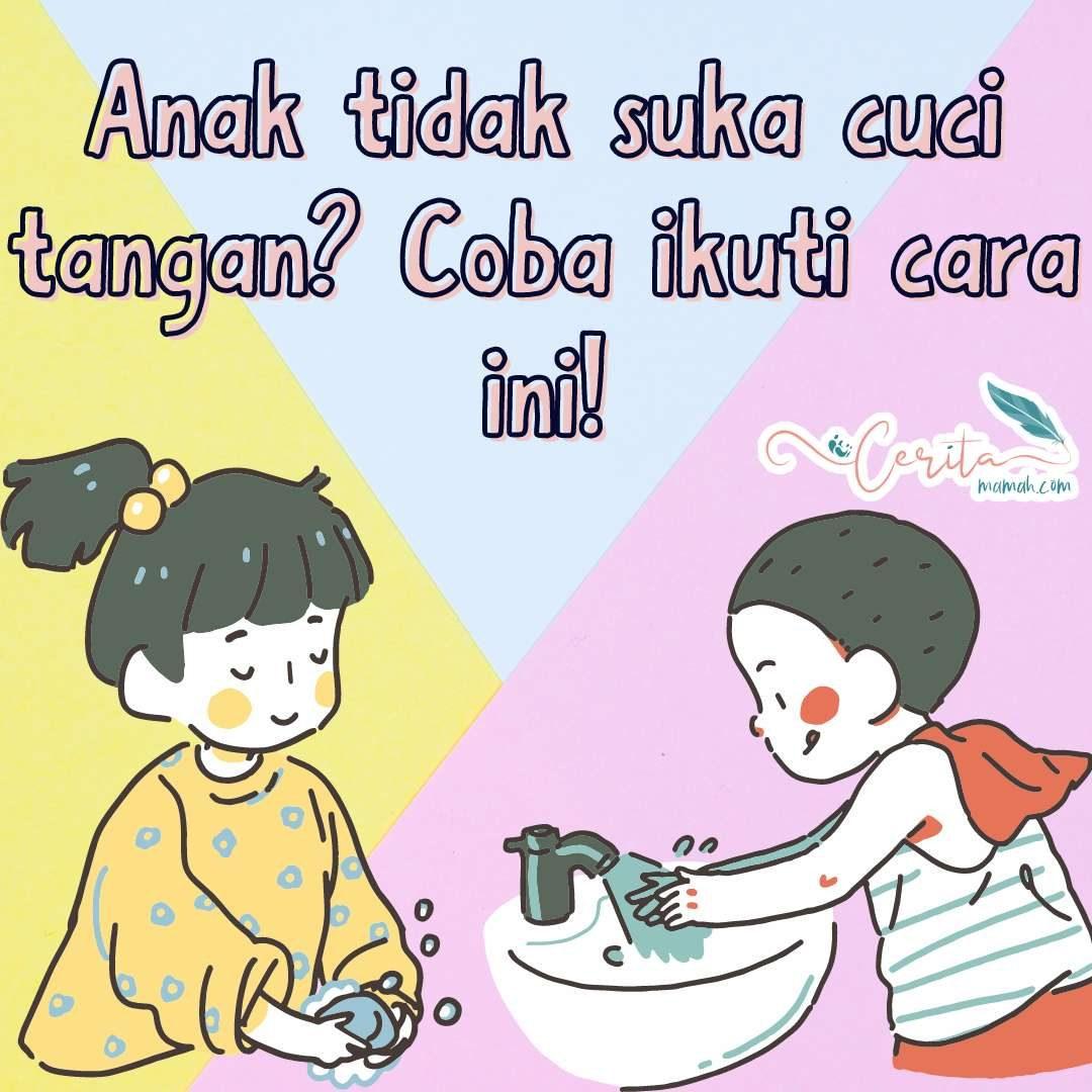 cuci tangan bersama anak