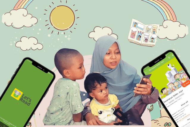 cerita bergambar lets read